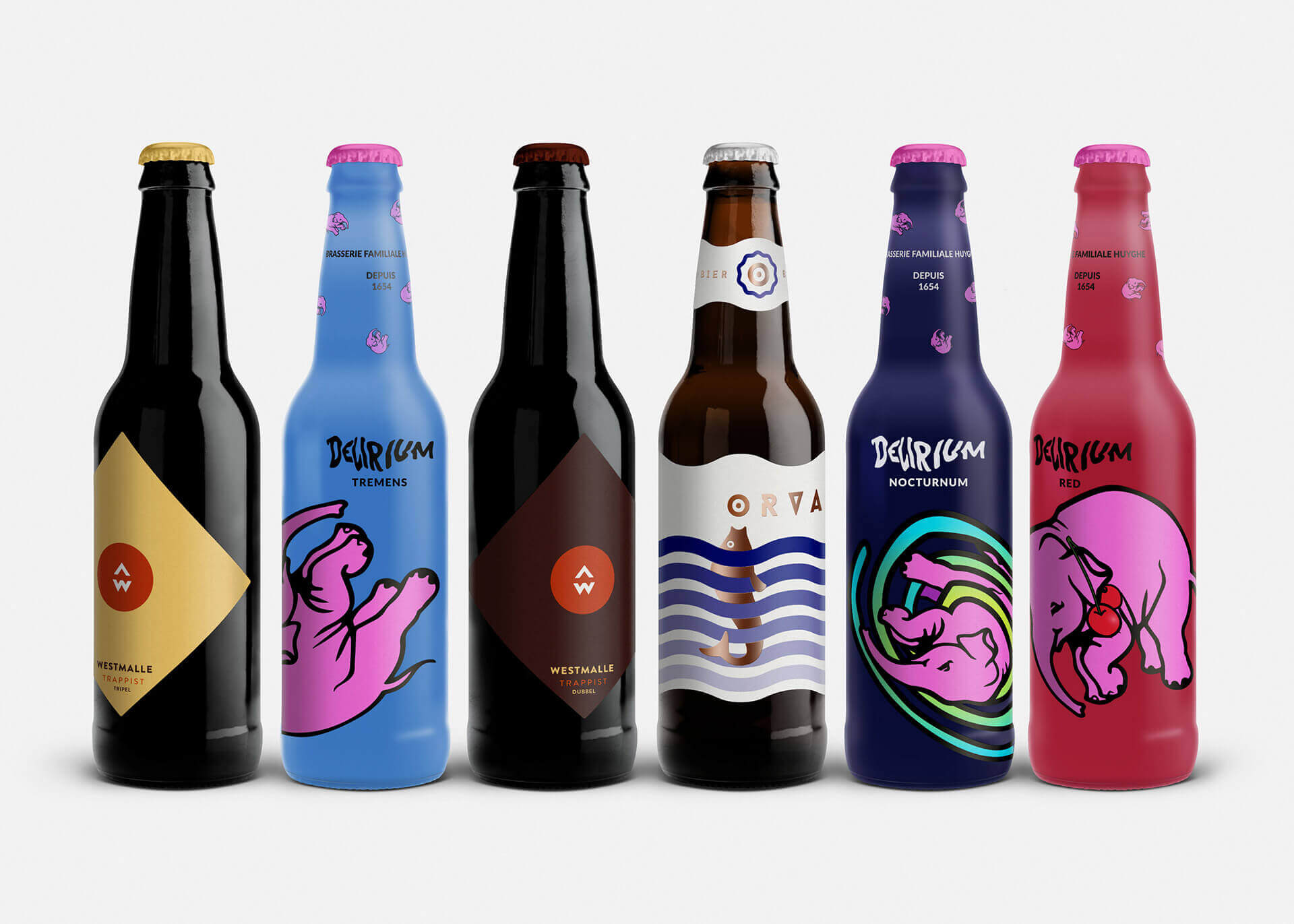 Next generation of Belgian Beer labels by Ján Bača