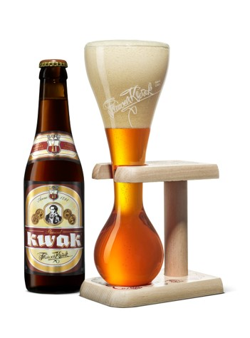 What is the percentage alcohol of the Belgian Kwak beer?