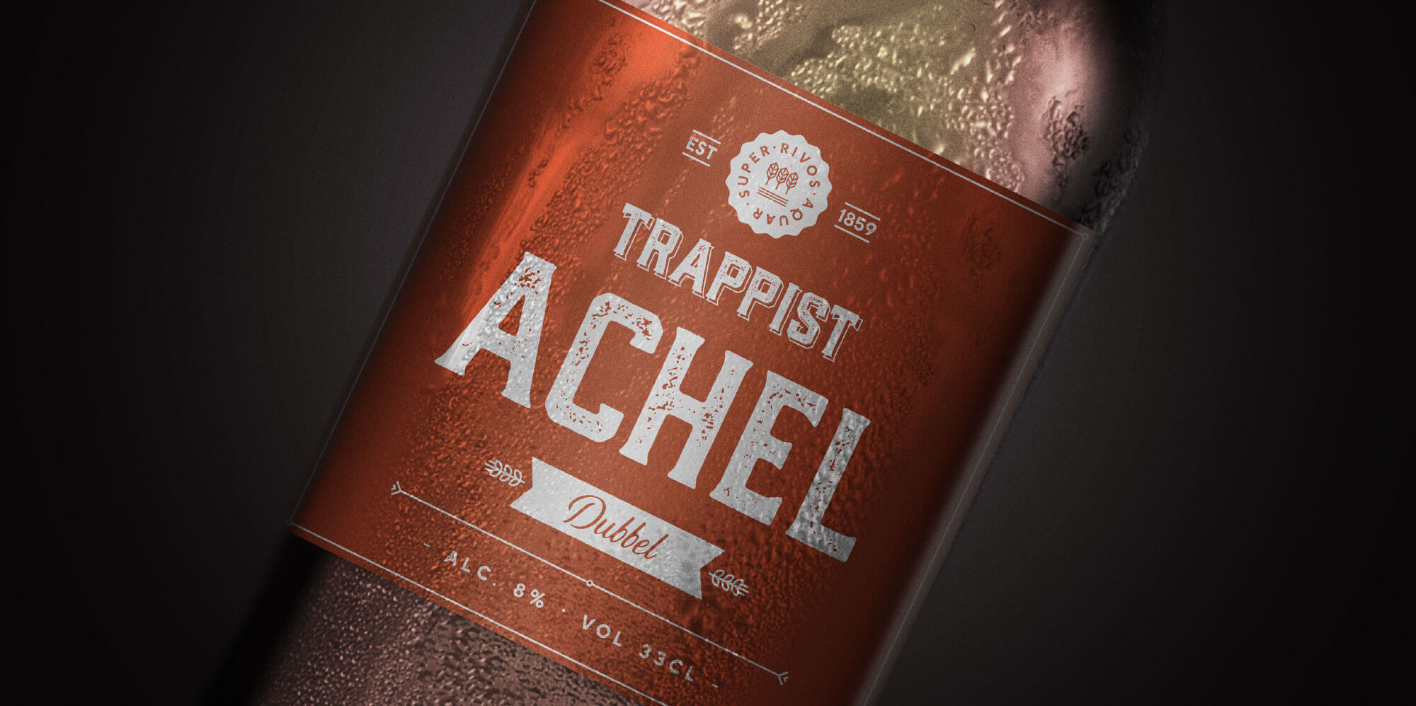 A brand new label for the Achel Trappist beer